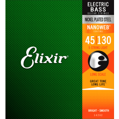 Elixir Nanoweb Nickel Bass Light 5 cordes 45-130 - Vue 2