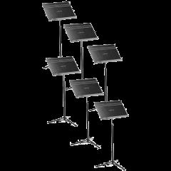 Manhasset Pupitre d'orchestre noir pliant - par 6 - Vue 2