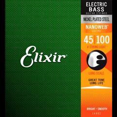 Elixir Nanoweb Nickel Bass Light 45-100 - Vue 2