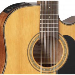 Takamine GD30CE-12NAT natural 12-cordes - Vue 2