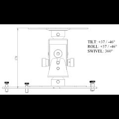 Euromet Support vidéoprojecteur Arakno standard noir - 45 kg - Vue 2