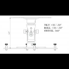 Euromet Support vidéoprojecteur mini Arakno noir - 20 kg - Vue 2