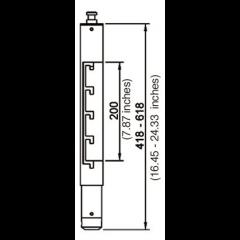 Euromet Colonne d'extension Arakno noir taille M - Vue 2