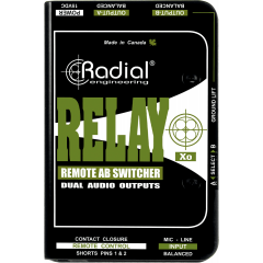Radial Switch microphone 1 entrée/2 sorties Relay XO - Vue 2