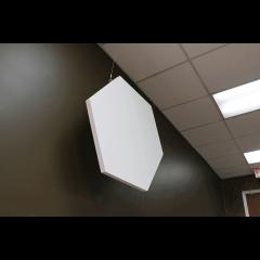 Primacoustic 2 panneaux de plafond hexagonaux à peindre 91 x 91 x 3,8 cm - Vue 2
