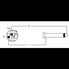 Cordial Câble h.p. Speakon 2 points/jack 5 m - Vue 2