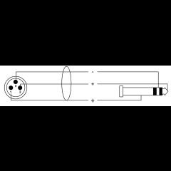 Cordial Câble audio stéréo XLR mâle/jack 2,5 m - Vue 2
