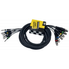 Yellow Cable Octopaire 8 jacks mono 8xlr fem. 5 m - Vue 2