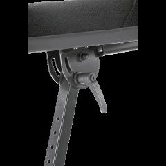 K&M 14046 Siège à ressort pneumatique ergonomique tissu - Vue 2
