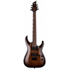 Ltd H-200FM dark brown sunburst - Vue 2