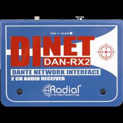 Radial Récepteur audio 2 canaux Dante DAN-RX2 - Vue 2