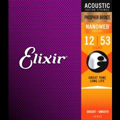 Elixir Nanoweb Phosphor Bronze Light 12-53 - Vue 2