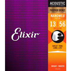Elixir Nanoweb Phosphor Bronze Medium 13-56 - Vue 2