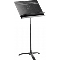 Manhasset Pupitre d'orchestre noir avec dépôt d'accessoires - par 6 - Vue 1
