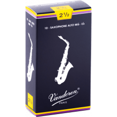 Vandoren Anches saxophone alto Traditionnelles force 2,5 - Vue 1