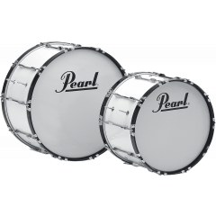 "Pearl Grosse caisse Marching Competitor 24"" x 14"" pure white - Vue 1"