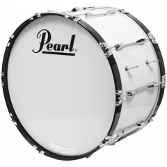 "Pearl Grosse caisse Marching Competitor 18"" x 14"" pure white - Vue 1"