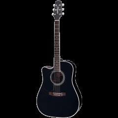 Takamine EF341SC-LH black gaucher - Vue 1