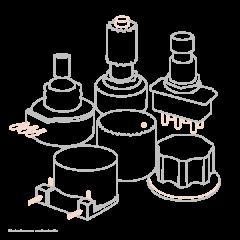 Takamine 6 mécaniques classique dorées bouton nacre - Vue 1