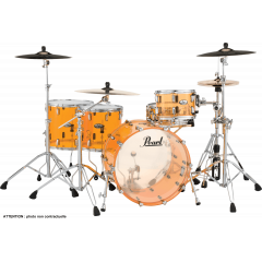 "Pearl Crystal beat Rock 22"" tangerine glass - Vue 1"