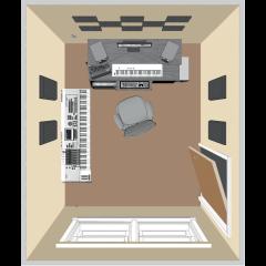 Primacoustic Kit de traitement acoustique pour 9 m² noir - Vue 1