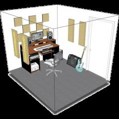 Primacoustic Kit de traitement acoustique pour 9 m² beige - Vue 1