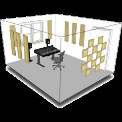 Primacoustic Kit de traitement acoustique pour 11 m² beige - Vue 1