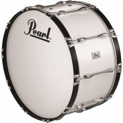 "Pearl Grosse caisse Marching Competitor 28"" x 14"" pure white - Vue 1"
