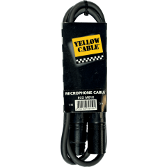 Yellow Cable Cordon xlr xlr fem. 1 m - Vue 1