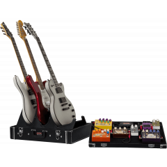 Gator GW-GIGBOXJR étui bois pedalboard + stand 3 guitares - Vue 1