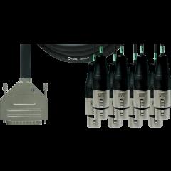 Cordial Câble interface sub-D/8 XLR femelles 3 m - Vue 1