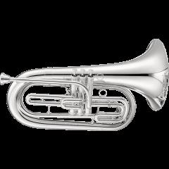 Jupiter Saxhorn baryton de défilé argenté JBR1000MS - Vue 1