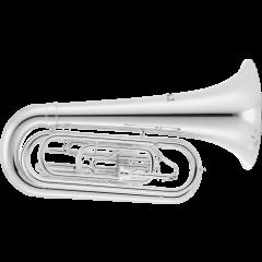 Jupiter Tuba de défilé argenté JTU1000MS - Vue 1