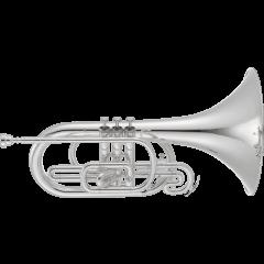 Jupiter Mellophone de défilé argenté JMP1000MS - Vue 1