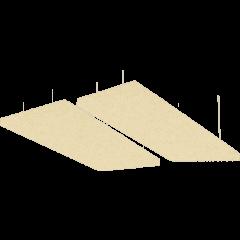 Primacoustic 2 panneaux absorbeur plafond beige - Vue 1