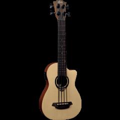Lâg TKB150CE Tiki Uku Mini Bass Cutaway électroacoustique - Vue 1