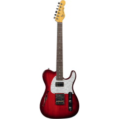 G&L Tribute ASAT Classic Bluesboy Semi Hollow Redburst - Vue 1