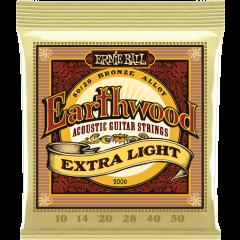 Ernie Ball Earthwood 80/20 bronze extra light 10-50 - Vue 1