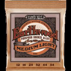 Ernie Ball Earthwood phosphore bronze medium light 12-54 - Vue 1