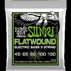 Ernie Ball Slinky flatwound 5 cordes 45-130 - Vue 1