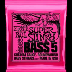 Ernie Ball Super slinky 5 cordes 45-125 - Vue 1