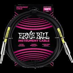 Ernie Ball Cables instrument classic jack/jack 3m noir - Vue 1