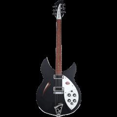 Rickenbacker 330 Noir mat  - Vue 1