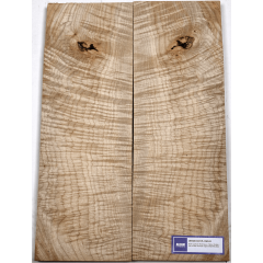 Lutherie Erable - 4A circular flamed maple 530x190x30x2 - Vue 1
