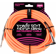 Ernie Ball Jack/jack coudé 3m orange - Vue 1