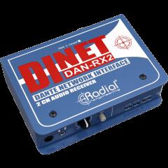Radial Récepteur audio 2 canaux Dante DAN-RX2 - Vue 1