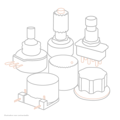 Alto Professional Bouton de potentiometre compresseur pour série Live - Vue 1