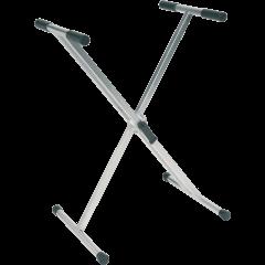 Rtx Stand clavier X double à rotule crantée - titane - Vue 1