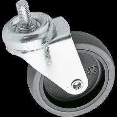Euromet Roulette en caoutchouc sans frein 75 mm - Vue 1