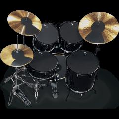 """Vic Firth sourdine fusion 10"""", 12"""", 14"""", 22"""", hi-hat et deux cymbales - Vue 1"""